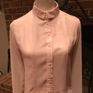 American Eagle Outfitters Sheer pin button down
